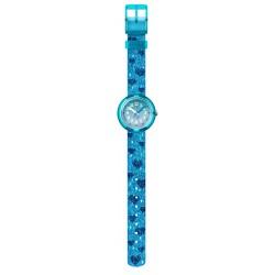 Flik Flak FPNP064 Mädchen-Uhr Turquoise Sparkle Analog Quarz Textil-Armband