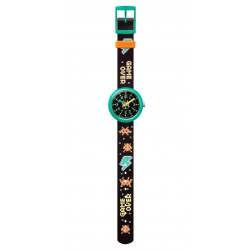 FlikFlak FPNP069 Jungen-Uhr Time-Invader Analog Quarz Textil-Armband