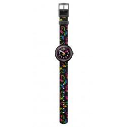 FlikFlak FPNP070 Mädchen-Uhr Disco Unicorn Analog Quarz Textil-Armband