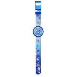Flik Flak FPNP073 Mädchen-Uhr Frozilicious Analog Quarz Textil-Armband