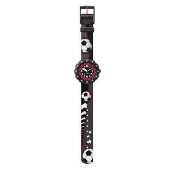 Flik Flak FPSP010 Jungen-Uhr Soccer Star Quarz Textil Armband Ø 34,75 mm