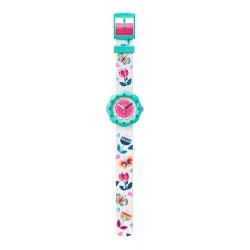 Flik Flak FPSP038 Mädchen-Uhr Bucolia Analog Quarz Textil-Armband