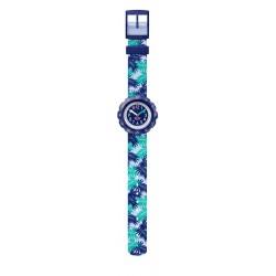 Flik Flak FPSP041 Mädchen-Uhr Releaf Analog Quarz Textil-Armband