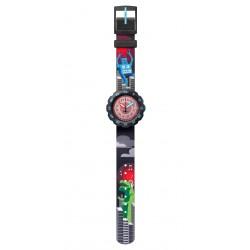 FlikFlak FPSP047 Jungen-Uhr T-Rocks Analog Quarz Textil-Armband