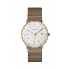 Junghans 047/7055.04 Damen-Uhr Max Bill Analog Quarz mit Textil-Band