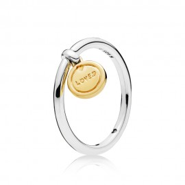 Pandora Shine 167823 Ring Damen Gold Silber Medallion of Love