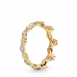 Pandora Shine 167924CZ Ring Damen Flower Crown Silber-Gold
