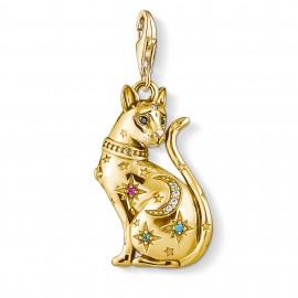 Thomas Sabo 1838-471-7 Charm-Anhänger Katze Sternenbild Silber Vergoldet