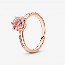 Pandora Rose 188289C01 Solitär-Ring Rosafarbene Funkelnde Krone