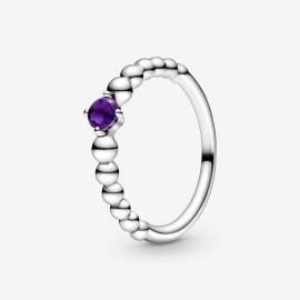 Pandora 198867C03 Ring Damen Lilafarbene Metallperlen Silber
