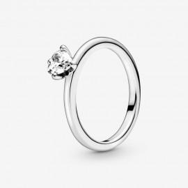 Pandora 198691C01 Ring Solitär Damen Klares Herz Sterling-Silber