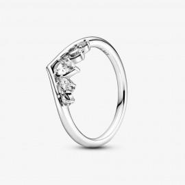 Pandora 199109C01 Ring Wishbone Birnen- & Marquise-Schliff Silber