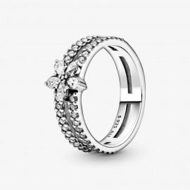Pandora 199236C01 Doppel-Ring Damen Funkelnde Schneeflocke Silber