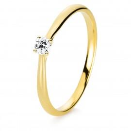 Diamond Group 1A287G4 Ring 4-er Krappe Brillant 0,10 ct 14 kt GG Gr. 54