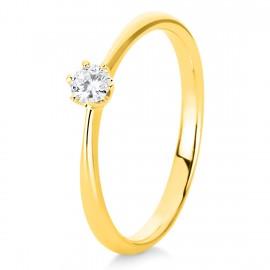 Diamond Group 1C478G4 Ring 6-er Krappe Brillant 0,15 ct 14 kt GG Gr. 54
