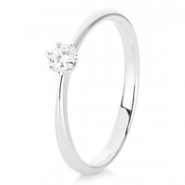 Diamond Group 1C478W4 Ring 6-er Krappe Brillant 0,15 ct 14 kt WG