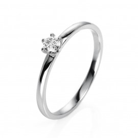 Diamond Group 1O322W454 Ring 6-er Krappe Brillant 0,15 ct 14 kt WG Gr. 54