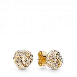 Pandora Shine 260696CZ Ohrringe Sparkling Love Knots Silber-Gold 18K