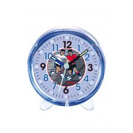Scout 280001029 Jungen-Wecker Fussball Blau Analog Quarz