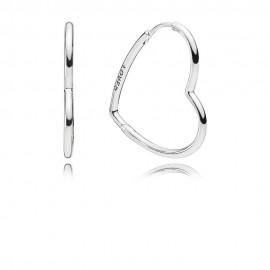 Pandora 297822 Ohrringe Asymmetric Hearts of Love Sterling Silber