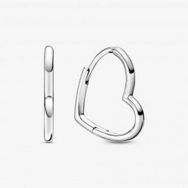 Pandora 298307C00 Ohrringe Creolen Asymmetrical Heart Hoop Silber