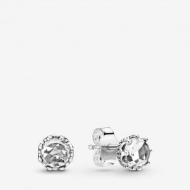 Pandora 298311CZ Ohrringe Clear Sparkling Crown Sterling Silber