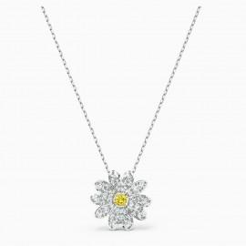 Swarovski 5512662 Kette mit Anhänger Damen Eternal Flower Gelb Silber-Ton