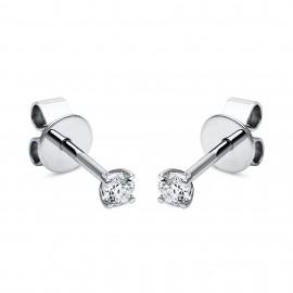 Diamond Group 2A994W4 Ohrstecker 4-er Krappe 2 Brillanten 0,10 ct 14 kt WG