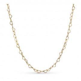 Pandora Shine 367961-60 Kette Joined Hearts Herzen Silber-Gold 18K 60 cm