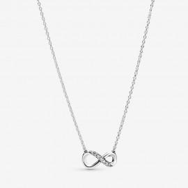 Pandora 398821C01 Halskette mit Anhänger Damen Funkelnde Unendlichkeit 50 cm