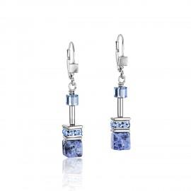 Coeur De Lion 4017/20-0700 Ohrringe Ohrhänger GeoCUBE®  Sodalith & Hämatit Blau Edelstahl