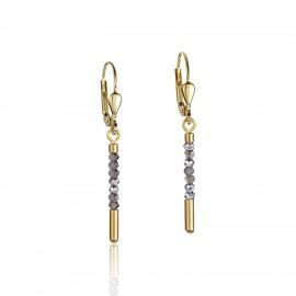 Coeur De Lion 4998/20-1617 Ohrringe Damen Wasserfall Glas Silber Edelstahl Gold
