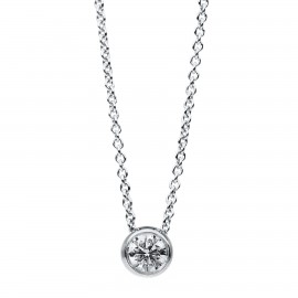 Diamond Group 4B666W Collier Halskette Zarge Brillant 0,20 ct 14 kt 585/- WG