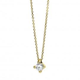 Diamond Group 4D269G4 Halskette 4-er Krappe Brillant 0,10 ct 14 kt GG