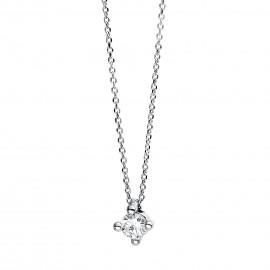 Diamond Group 4D269W4 Halskette 4-er Krappe Brillant 0,10 ct 14 kt WG