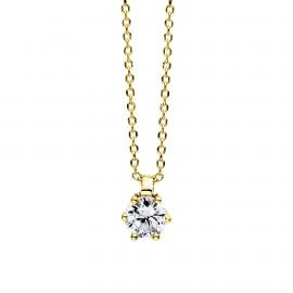 Diamond Group 4D279G4 Halskette 6-er Krappe Brillant 0,15 ct 14 kt GG