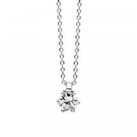Diamond Group 4D279W4 Halskette 6-er Krappe Brillant 0,15 ct 14 kt WG
