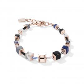 Coeur de Lion 5006/30-0700 Armband Damen GeoCUBE® Blau Edelstahl Roségold