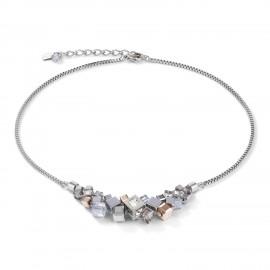 Coeur de Lion 5037/10-1723 Halskette Damen GeoCUBE® Cluster Silber Rosé