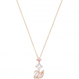 Swarovski 5473024 Kette Dazzling Swan Y-Halskette Mehrfarbig Rosé Vergoldung
