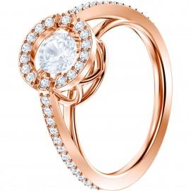 Swarovski Ring Sparkling Dance Round Weiss Rosé Vergoldung