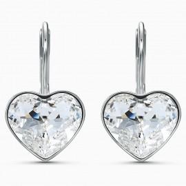 Swarovski 5515191 Ohrringe Damen Bella Heart Weiss Silber-Ton