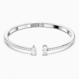 Swarovski Armreif Damen Attract Weiss Silber-Ton