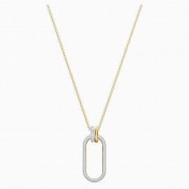 Swarovski 5560715 Halskette mit Anhänger Damen Time Weiss Vergoldet