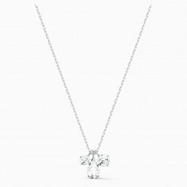 Swarovski 5571077 Halskette mit Anhänger Damen Attract Cluster Weiss Silber-Ton