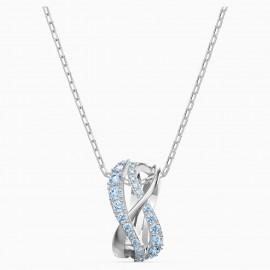 Swarovski 5582806 Halskette mit Anhänger Damen Twist Rows Blau Silber-Ton