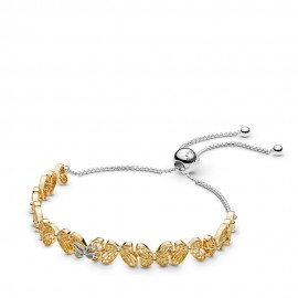Pandora Shine 567957 Armband Sliding Openwork Butterflies Silber-Gold
