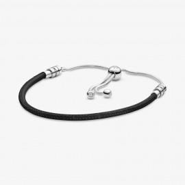 Pandora 597225CBK-2 Leder-Schiebearmband Moments Schwarz