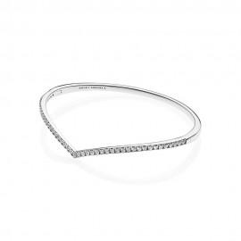 Pandora 597837CZ Armreif Damen Shimmering Wish Sterling-Silber