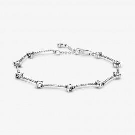 Pandora 599217C02 Armband Damen Funkelnde Pavé-Stäbe Silber